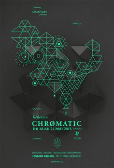 Festival Chromatic 2013 - Poster by Emilie Thibaut #festival #gig #design #graphic #poster #music #type #typography