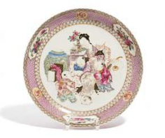 Plate with mother and children #porcelain