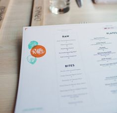 RIFFLE NW on Behance #riffle #branding #menu #design #identity #nw