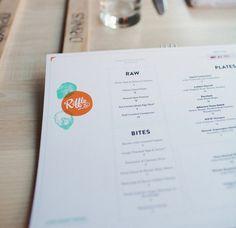 RIFFLE NW on Behance #branding #identity #menu design #riffle nw