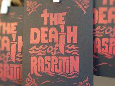 The Death Rasputin - Block Print #lockup