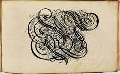 BibliOdyssey: Calligraphy Letterform Album #calligraphy #alphabets #traditional #letterform #type #arrangements #german