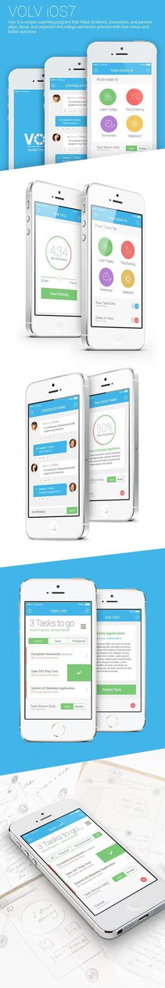 Volv: iOS7 Mobile App by Naresh Kumar