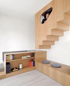 Studio Gosplan Created Cross-shaped Wooden Furniture for Renovated Flat - InteriorZine