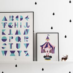 #nordic #design #graphic #illustration #danish #letters #simple #nordicliving #living #interior #kids #room #poster #alphabet #flip #blue