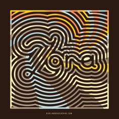 Zora Neale Hurston #typography #pattern #retro