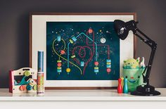 Home Is Where Your Heart Is (Glow In The Dark) — stellavie design manufaktur #heart #glow #home #kids