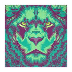 Violet Minds // Solo Exhibition on Behance #vector #lion #color #yes #vintage