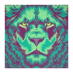 Violet Minds // Solo Exhibition on Behance #vector #lion #color #yes #vintage