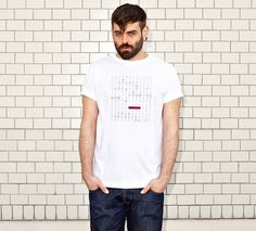 WORD SEARCH - the secret to creativity is knowing how to hide your sources - white t-shirt - men | NATRI - Shirt Label #modern #quote #print #design #shirt #minimal #fashion #type #typography