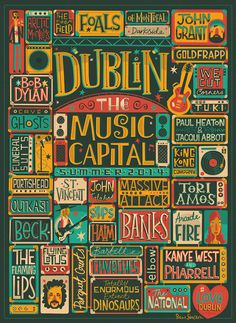 Dublin: The Music Capital on Behance #dublin #type #music #poster