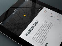 Secret Detail on iPad #white #yellow #black #map #clean #pin