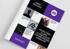 Warp Records by Till Wiedeck #magazine #print
