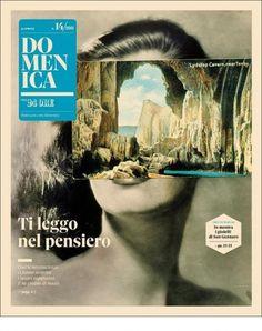 Intriguing Domenica - Coverjunkie.com #white #photomontage #black #cover #and #magazine