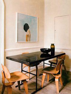 Mid century modern dining room.