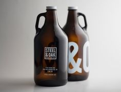 Steel and Oak Brewing Co on Packaging of the World – Creative Package Design Gallery #packaging #design #inspiration #print