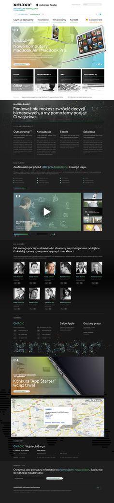GMAGIC on the Behance Network #layout #webdesign