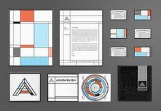 Assemblism #mondrian #brand #modular #branding