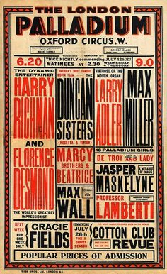 Typeverything.com Vintage poster. #gig #vintage #poster #show #condensed #typography