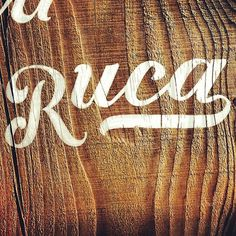 Photo by alexnassour #lettering #wood #ruca #type #hand #typography