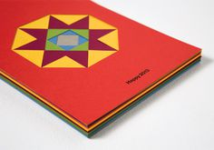Happy 2013 #geometry #invitation #gracia #craft #colors #handmade #poster #papercut #txell