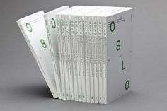 OSLO book #oslo #white #publication #green
