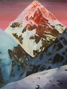 Christopher Russell - Pink Mountaintop | 5 Pieces Gallery - Contemporary Fine Arts & Photography #painting #artist #art