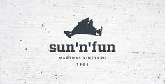 Sun 'n' Fun Rentals by Focus Lab, LLC #branding #design #wood #island #marthas #logo #vineyard