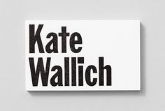 Kate Wallich by Shore #print #graphic design #business card
