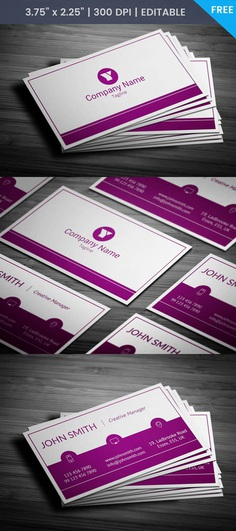 Free Woman Manager Business Card Template