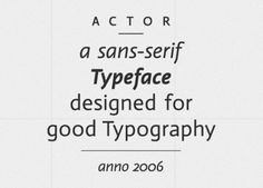 26+ » Actor #type #font #new