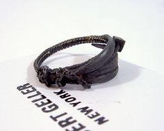 driftwoodskull feather ring
