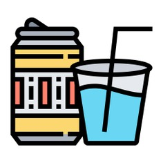 See more icon inspiration related to water, sugar, soda, pop, can, food and restaurant, cola, beverage, light, glass, food and drink on Flaticon.