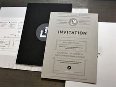 Ned_ #letterpress #invitation