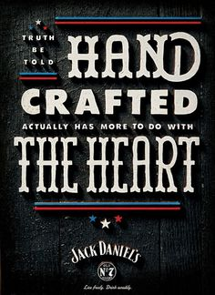 Jack Daniel's Is Back With More Patriotic Posters | Adweek #carved #crafted #wood #daniels #jack #hand #typography