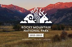 rocky mountain national park centennial logo on behance #geometric #vector #triangle #national park #white out