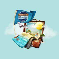 Promoção Rumo Incerto Lacta - Digital illustration #digital-illustration #sun #trip #travel