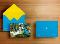 Blue Stag 'Thank You' cards #print #promo #animal #stag #branding
