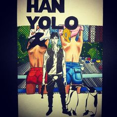 Han Yolo #starwars #watercolor #art #painting #ink