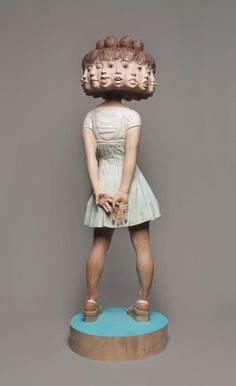 Yoshitoshi Kanemaki | artnau #sculpture #bizarre #girl #blur #design #heads #strange #art