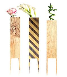 LEBORED Limited Edition Wood Vases Design Milk #wood #vase #plants