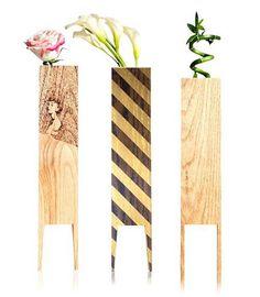 LEBORED Limited Edition Wood Vases   Design Milk