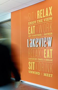 POULIN + MORRIS: Novo Nordisk North American Headquarters #inspiration #lettering #typography
