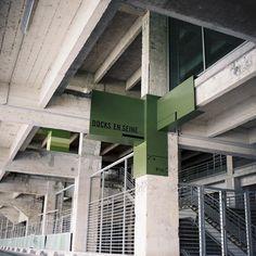 Docks en Seine Signage by Nicolas Vrignaud - Dezeen #signage
