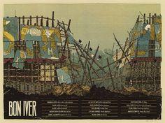 BonIver_Summer_FinalScan_800px_800.jpg (800×599) #gig #posters #poster #landland