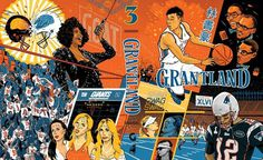 Cover of the Grantland Quarterly, Issue 3. Art directed by Juliet Litman, with production by McSweeney's #basketball