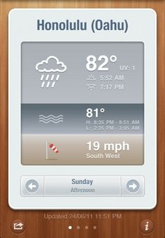 lovely ui (icons on BeachWeather)) #iphone #app #beachweather #ipad