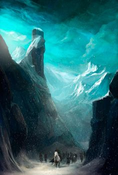 The Art Of Animation, Adams Brenoch #horses #mountain #fantasy #snow #landscape #illustration #concept #art #winter