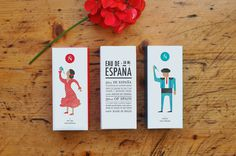 Spanish packaging design Eau de Espana #packaging #spanish #design