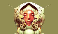 Lovely 3D character design #design #futuristic #portrait #character #3d #sci-fi